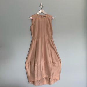 NWT COS Silk Cotton Dress in Blush Pink Puff Skirt